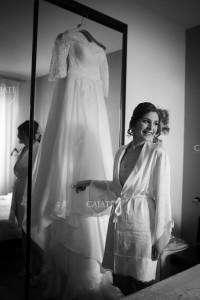 Indossare abito da sposa